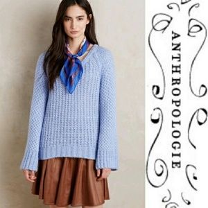 MOTH Chunky knit bell sleeve sweater